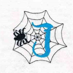 Spider Web J embroidery design
