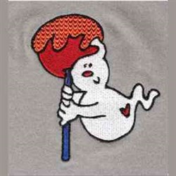 Ghost Candy embroidery design