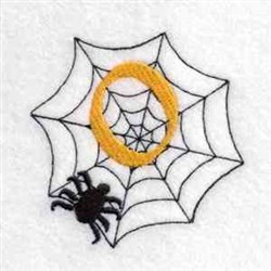 Spider Web Number 0 embroidery design