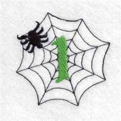 Spider Web Number 1 embroidery design