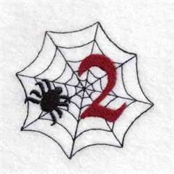 Spider Web Number 2 embroidery design