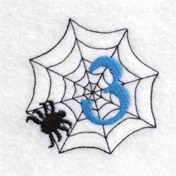 Spider Web Number 3 embroidery design