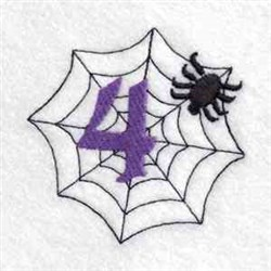 Spider Web Number 4 embroidery design
