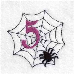 Spider Web Number 5 embroidery design