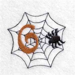 Spider Web Number 6 embroidery design