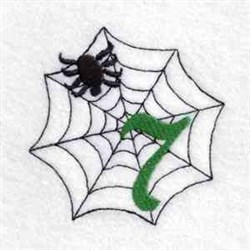 Spider Web Number 7 embroidery design