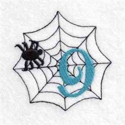 Spider Web Number 9 embroidery design