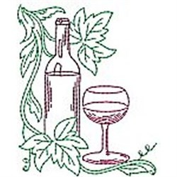Wine Corner embroidery design