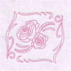 Spring Rose Embellishment embroidery design