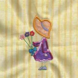 Stick Bonnet With Flower embroidery design