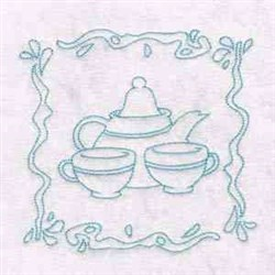 Cups And Saucer embroidery design