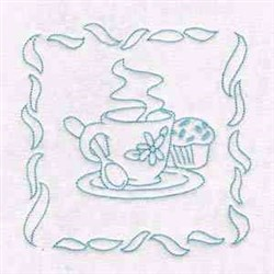 Tea Time Decoration embroidery design
