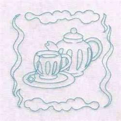 Tea Cups & Saucer embroidery design