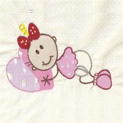 Girl & Heart embroidery design