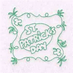 St Patricks Day Wishes embroidery design