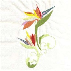 Birds Of Paradise embroidery design