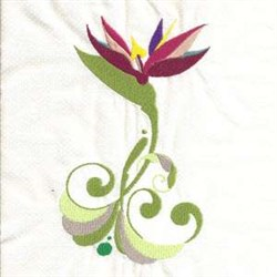 Bird Of Paradise Floral embroidery design