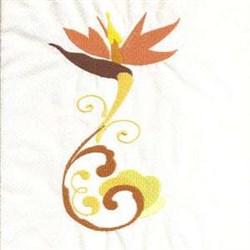 Tropical Blossom embroidery design