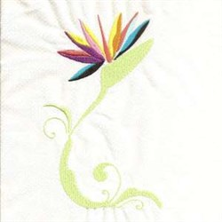 Paradise Flower embroidery design