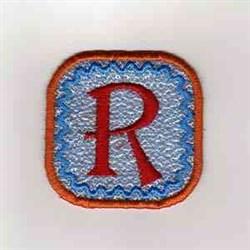 Summer Banner Block R embroidery design
