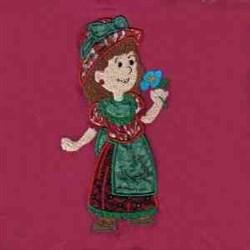 Applique Country Girl embroidery design