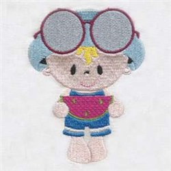 Summer Time Baby embroidery design