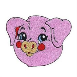 Pig Head embroidery design