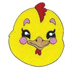 Chick Head embroidery design