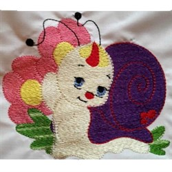 Cute Snail embroidery design