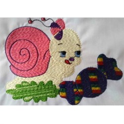 Snail & Candy embroidery design