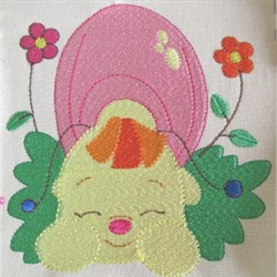 Snail Nap embroidery design