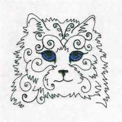 Swirly Kitty embroidery design