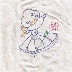 Spring Bonnet Floral embroidery design
