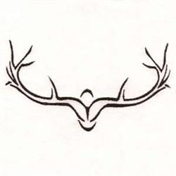 Antler Outline embroidery design