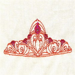 Red Tiara embroidery design