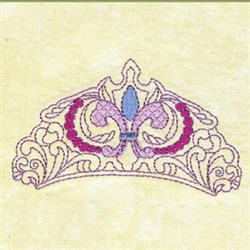 Princess Crown embroidery design