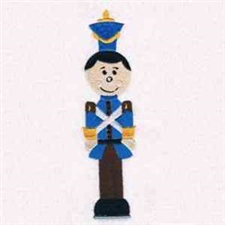 Toy Soldier In Blue embroidery design