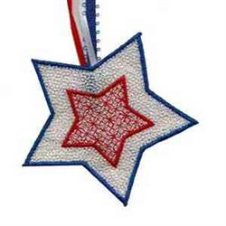 USA Banner Star embroidery design