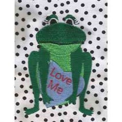 Valentine Toad embroidery design