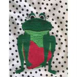 Valentine Frog Heart embroidery design