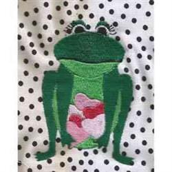 Valentine Frog Print embroidery design
