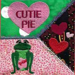 Valentine Frog Cutie embroidery design