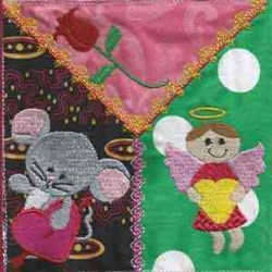 Valentine Mouse Angel embroidery design