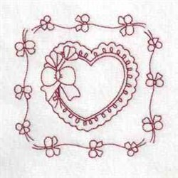 Flowers & Heart embroidery design