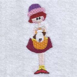 Little Missy embroidery design
