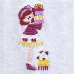 Child & Dog embroidery design