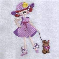 Kid & Dog embroidery design