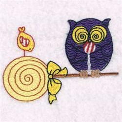 Owl & Bird embroidery design