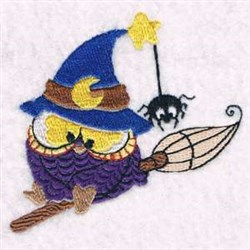 Owl Witch embroidery design