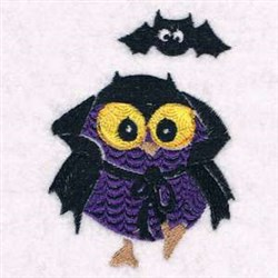 Dracula Owl embroidery design
